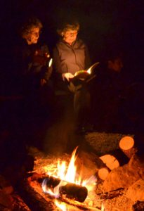 storytelling around campfire